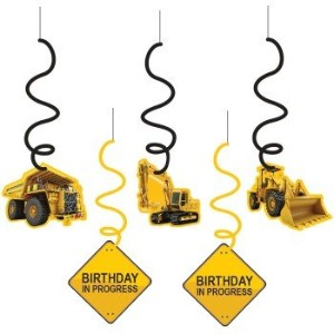 Construction Zone Dangling Cutout Party Decorations (5 ct) by Creative Converting [並行輸入品]