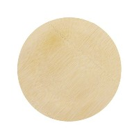 BambooMN Brand - 11 (28cm) Round Disposable Bamboo Veneer Plates, 24pcs by BambooMN
