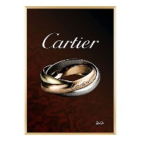 RUTO8 オリジナル Cartier - カルティエ リング アートポスター A1 A2サイズ (A2, rtct-03)