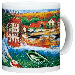 Claude Monet - On The Seine - 14oz Coffee Mug by Chaleur