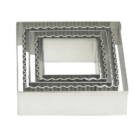 Mrs. Anderson's Baking Cookie and Fondant Cutters, Graduated Crinkle Squares, 5-Piece Set with...