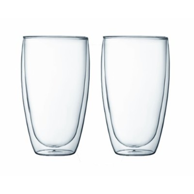 Bodum Pavina Double Wall Glass, 15-Ounce, Set of 2 by Bodum