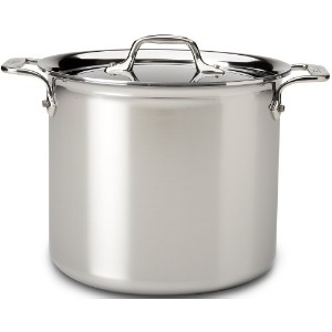All-Clad 4507 Stainless Steel Tri-Ply Bonded Dishwasher Safe Stockpot with Lid / Cookware, 7-quart,...