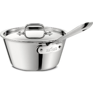 All-Clad 4212.5 Stainless Steel Tri-Ply Bonded Dishwasher Safe Windsor Pan with Lid / Cookware, 2.5...