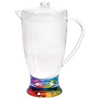Merritt Rainbow Teardrop 2.5-Quart Acrylic Pitcher by Merritt