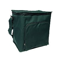 Green Earth Bags GEB Durable Reusable Thermal Cube Tote Bag, 12 H x 12 W x 8.5 D, Forest Green by...