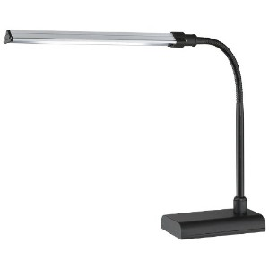Lite Source LS-22048BLK Desk Lamp with Black Metal Shades, Black Finish by Lite Source