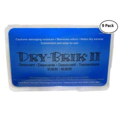 Dry Brik II Desiccant Blocks 9-Pack by Dry and Store [並行輸入品]