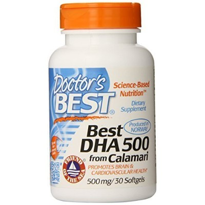 Doctor's Best Best DHA 500 from Calamari, 500 mg., 30 Softgek Capsules by Doctor's Best [並行輸入品]
