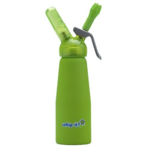 Whip-It 1/2-Liter Gourmet Cream Whipper, Rubber Coated, Lime by Whip-it!