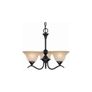 Dover 12-7622 Series Oil Rubbed Bronze 3-Light Chandelier by Dover