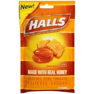 〈海外直送品〉【2個】Halls Soothing Sore Throats Relieves Coughs Made with Real Honey - 30ドロップ ホールズ ハニー...