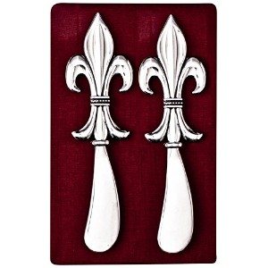 Thirstystone N173 Cheese Spreaders, Fleur de Lis by Thirstystone
