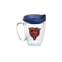 Tervis 1064561 NFL Chicago Bears Bearエンブレム個々Mug with Navy蓋、16オンス、クリア