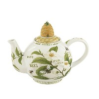 Cardew Design Tea Plant & Honey Bee 6 Cup Teapot with Bee Hive蓋、48 g、マルチカラー