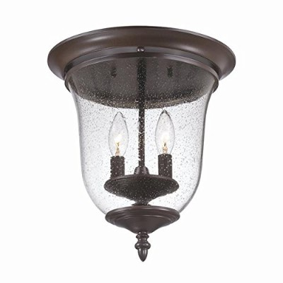 Acclaim 9305ABZ Belle Collection 2-Light Ceiling Mount Outdoor Light Fixture, Architectural Bronze...