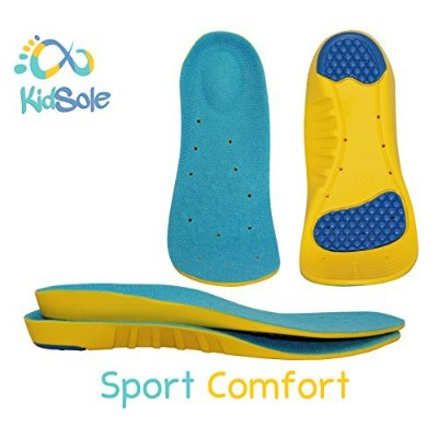 Children's Athletic Memory Foam Insoles For Arch Support and Comfort for Active Children by KidSole