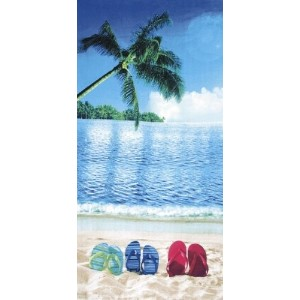 Sunny Day, Velour Beach Towel 30X60 - MADE IN BRAZIL by Dohler