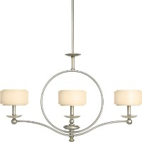Progress Lighting P4349-134 Linear Chandelier, 3-60-watt by Progress Lighting