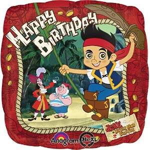 """17"""" Jake And The Neverland Pirates 'happy Birthday' Foil Balloon"""