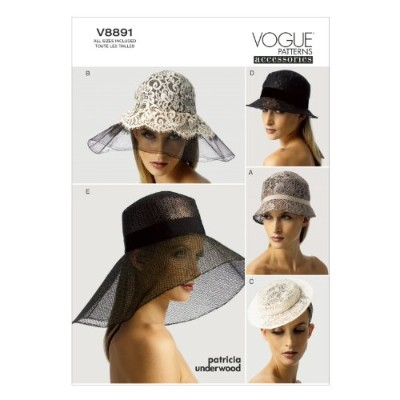 VOGUE PATTERNS V8891 Hats Sewing Template, All Sizes by Vogue Patterns
