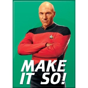 1 x Star Trek – The Next Generation – make it so冷蔵庫マグネット