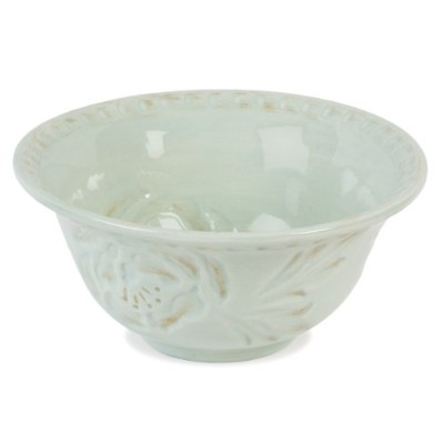 Toulouse Collection, Soup/Cereal Bowl, Green by Fitz and Floyd