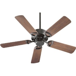 Quorum International 143425-95 Estate Patio Ceiling Fan with Walnut ABS Blades, 42-Inch, Old World...