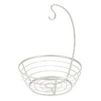 InterDesign Axis Fruit Tree Bowl with Banana Hanger for Kitchen Countertops - Pearl White by...