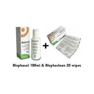 Blephasol 100ml and Blephaclean 20 Wipes by Thea