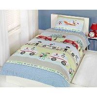 Childrens Emergency Vehicles Single Duvet Set sold ByKatie Malones by Unknown