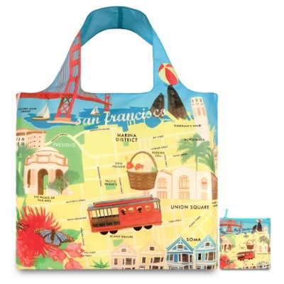 LOQI Urban San Francisco Reusable Shopping Bag, Multicolored by LOQI