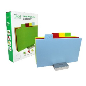 Cutting Board Set- Index Folding Color Coded XL Sized Chopping Board Set by Good Cooking (Rectangula...