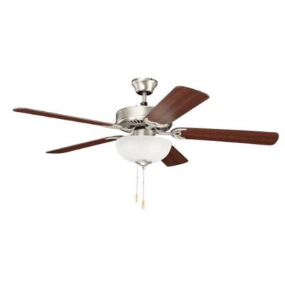 Kichler Lighting 403NI7 Basics Select 52IN 3LT Ceiling Fan, Brushed Nickel Finish with Reversible...