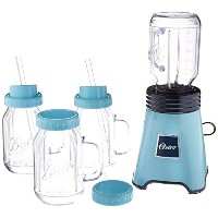 スムージー ブレンダー メイソンジャー4個 Oster Blend N Go Mason Jar Blender, with (4) 20 oz. BPA-free Plastic Jars