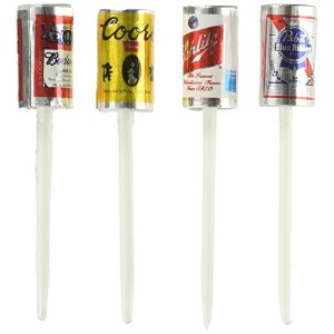Oasis Supply Beer Cans with Plastic Pick for Cake Cupcake Decorating, 2.5-Inch by Oasis Supply
