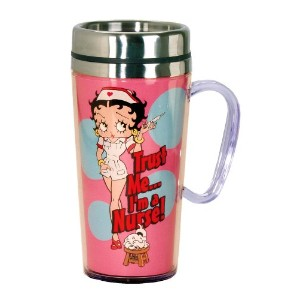 Betty Boop Nurse Insulated Travel Mug, Pink by Betty Boop