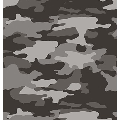 Creative Converting 725532 Operation Camo Border印刷プラスチックTablecover、54 by 108インチ、グレー