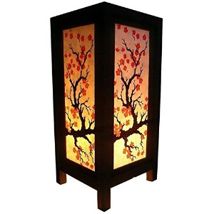 Asian Oriental Vintage design paper sakura Table Lamp side bed lamp [並行輸入品]