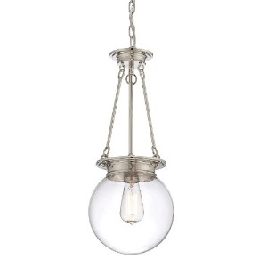 Savoy House 7-3300-1-109, Glass Orb 9 Pendant, Polished Nickel by Savoy House