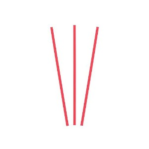 Royal 5 Red Sip Straw, Inner Bags, Case of 10,000 by Royal