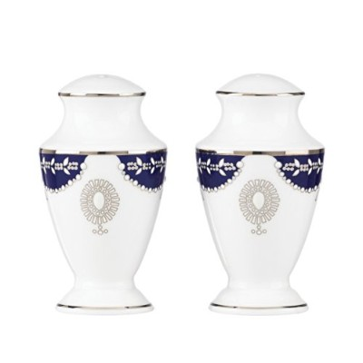 Lenox Marchesa Empire Salt and Pepper, Pearl Indigo by Lenox [並行輸入品]