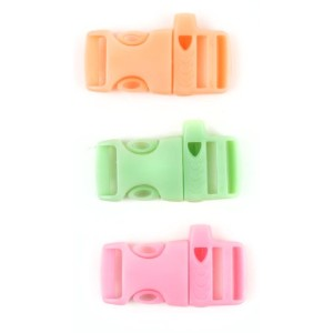 Glow In The Dark Buckle W/Whistle 3/Pkg-Pink, Green And Orange (並行輸入品)