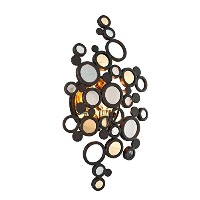 Corbett 28574003 One Light Bronze with Polished B Wall Light by Corbett