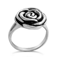 925 Sterling Silver Valentineニs Rose Ring (9.5)