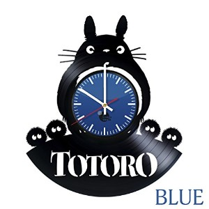 スタジオジブリ My Neighbor Totoro Vinyl Wall Clock - Get unique kitchen wall decor - Gift ideas for teens,...