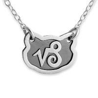 Two-Tone 925 Sterling Silver Belcho Zodiac Capricorn Horoscope Necklace (16 Inches)