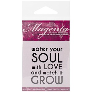 "Magenta Cling Stamps 2.25""X1.75""-Water You Soul (並行輸入品)"