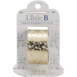 Little B Foil Tape 25mmX10m-Golden Floral (並行輸入品)