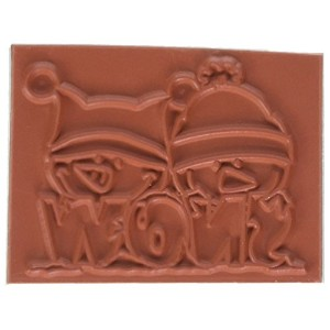 "Meoples Cling Stamp 3""X2.25"" -Snow Cute (並行輸入品)"